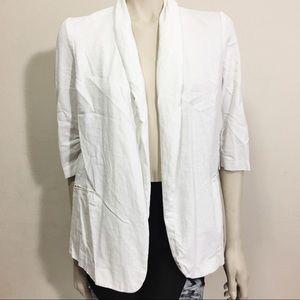 Bar III linen white blazer size L
